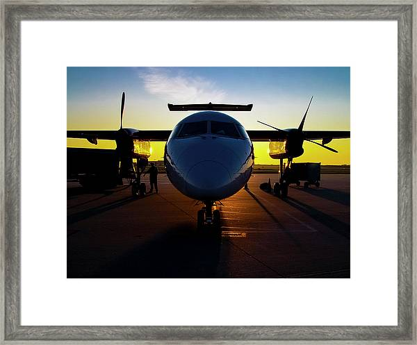 Dhc-8-300 Refueling Framed Print