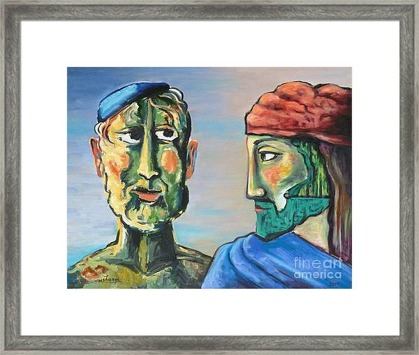 Dialogue Framed Print by Ushangi Kumelashvili