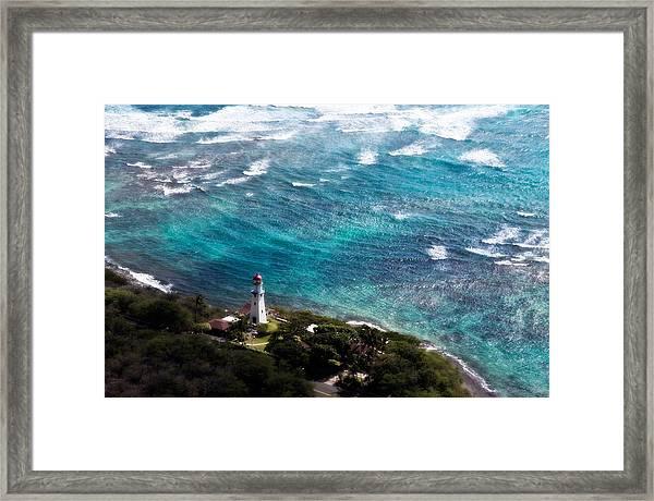 Diamond Head Lighthouse Framed Print