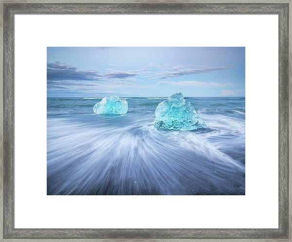 Diamond In The Rough. Framed Print