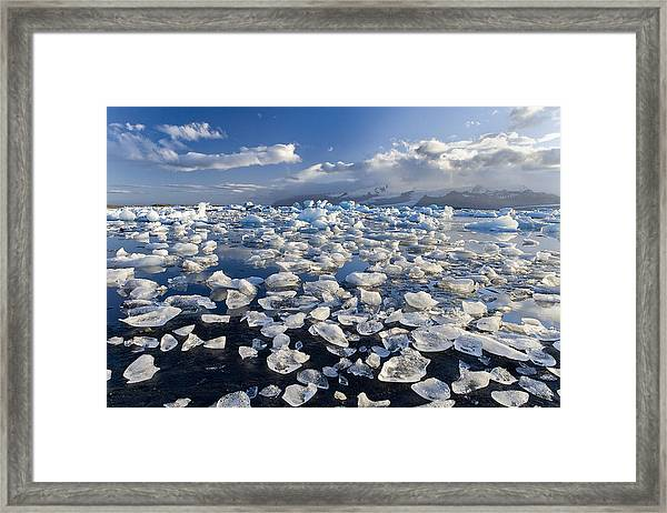 Diamonds Sea Framed Print by Joan Gil Raga