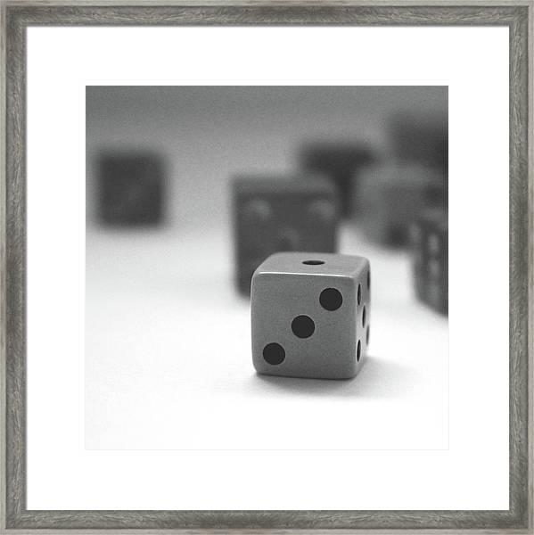 Dice 2- By Linda Woods Framed Print