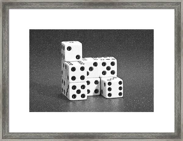 Dice Cubes I Framed Print