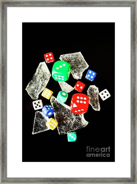 Dicing With Chance Framed Print