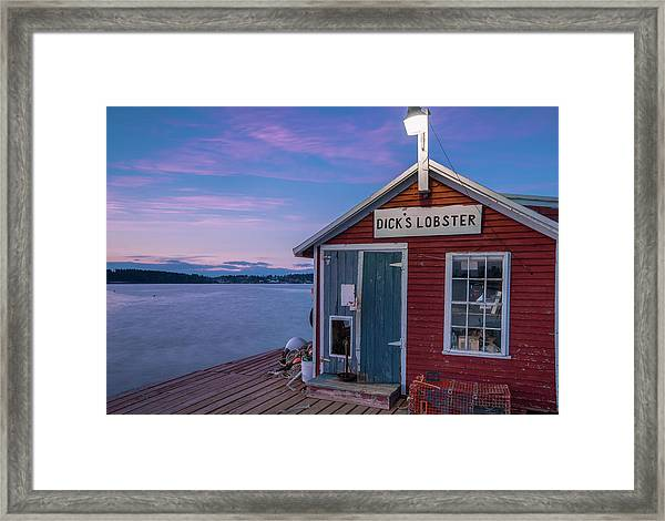 Dicks Lobsters - Crabs Shack In Maine Framed Print