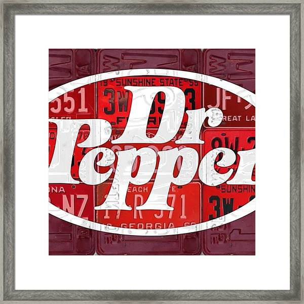 Did You Know #drpepper Was Created And Framed Print