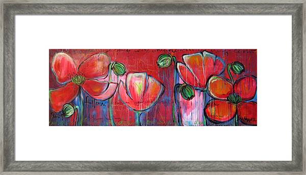 Framed Print featuring the painting Did You Say Sanctuary by Laurie Maves ART