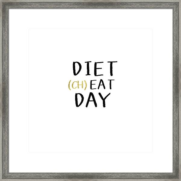 Diet Cheat Day- Art By Linda Woods Framed Print