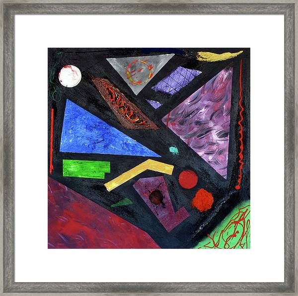 Framed Print featuring the painting Differences by Michael Lucarelli