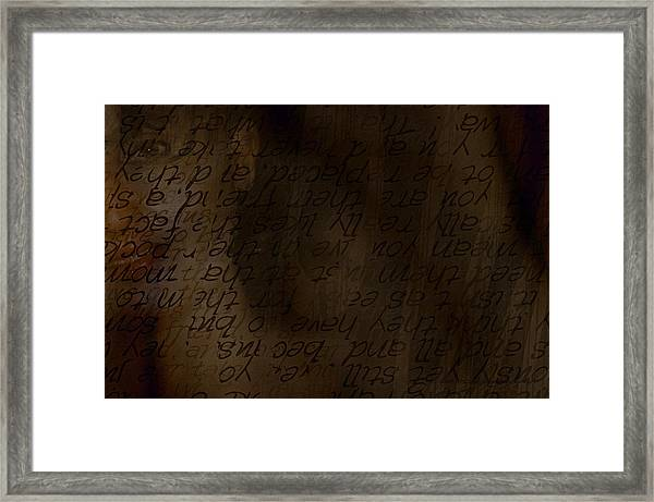 Different Dialects Framed Print