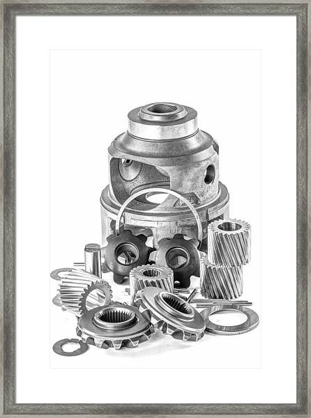 Differential Components Framed Print