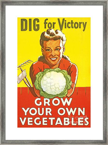Dig For Victory Framed Print