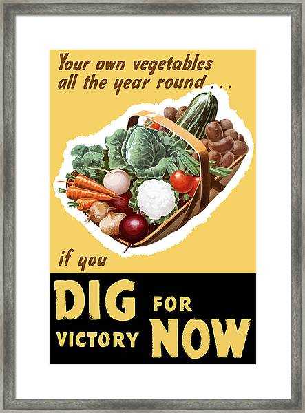 Dig For Victory Now Framed Print