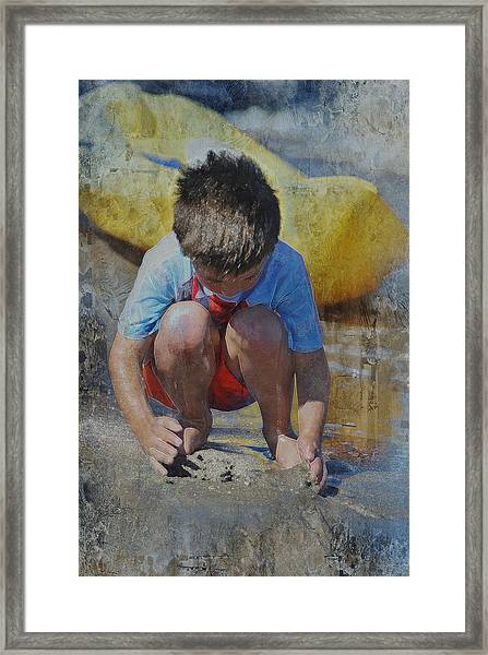 Digging To China 2 Framed Print