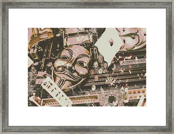 Digital Anonymous Collective Framed Print