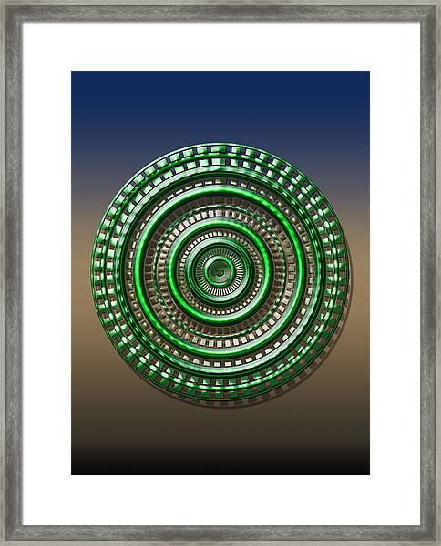 Digital Art Dial 3 Framed Print