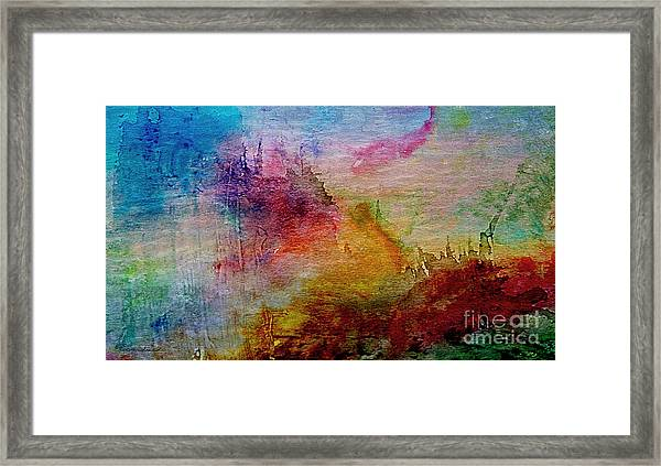 1a Abstract Expressionism Digital Painting Framed Print