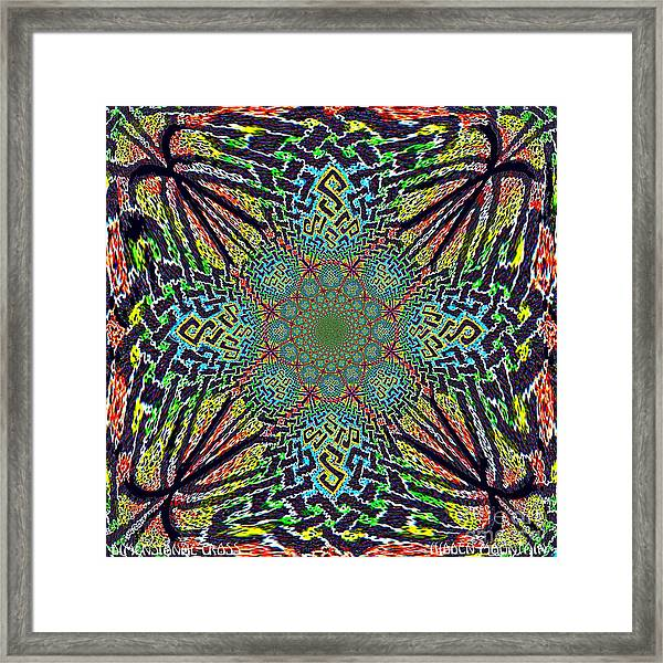 Dimensional Celtic Cross Framed Print