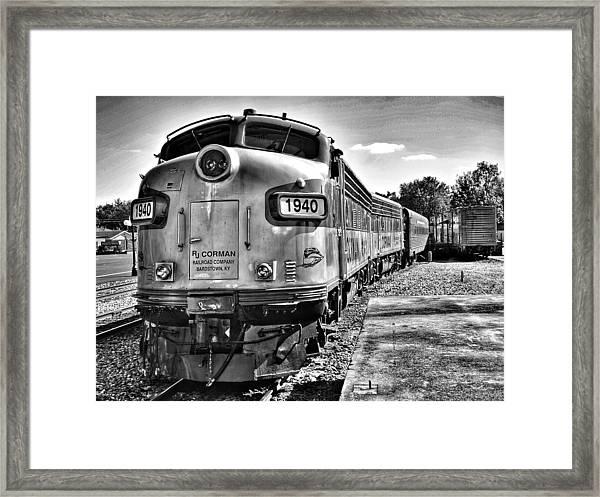 Dinner Train Framed Print