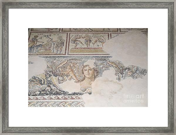 Dionysus Mosaic Mona Lisa Of The Galilee Framed Print