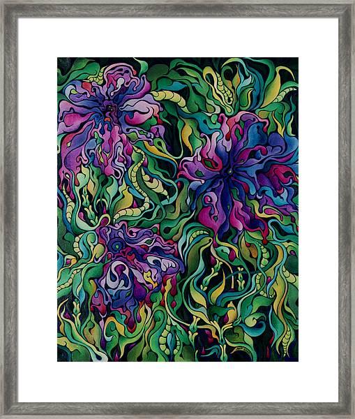 Dioxazine Disintegration Framed Print