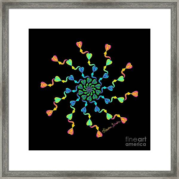 Direction Of My Heart Framed Print