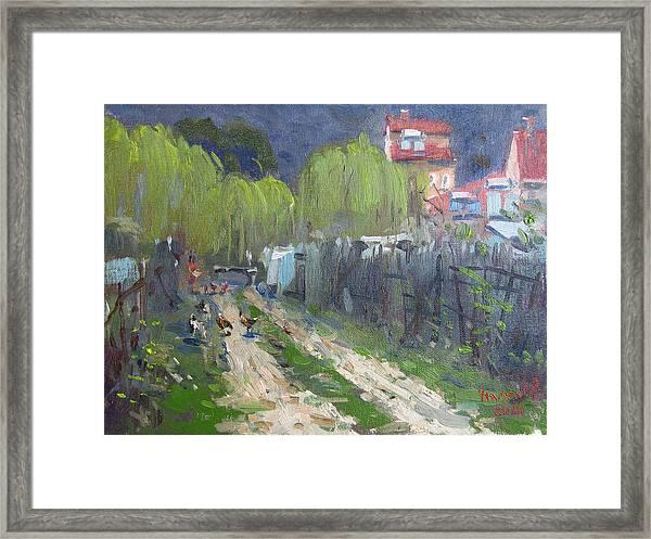 Dirt Road To Elida's Garden Framed Print