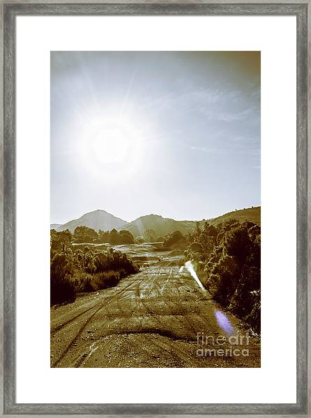 Dirt Roads Of Outback Tasmania Framed Print
