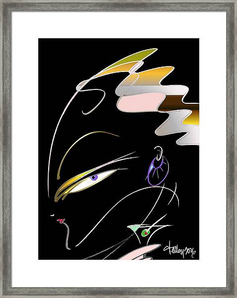 Framed Print featuring the painting Dirty Martini by Larry Talley