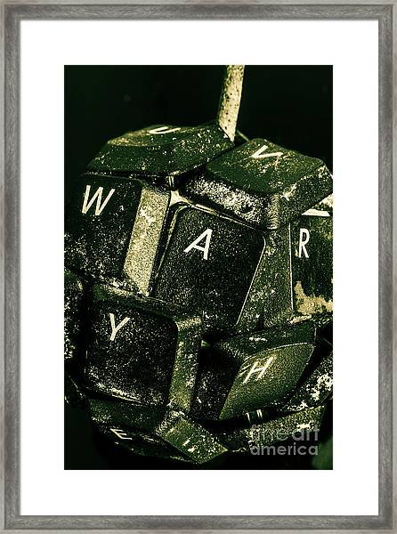 Disarming Of Weaponiised Words  Framed Print