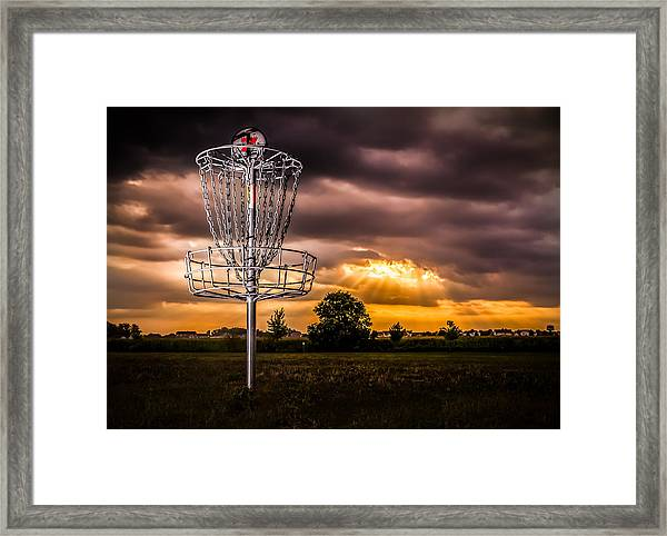 Disc Golf Anyone? Framed Print