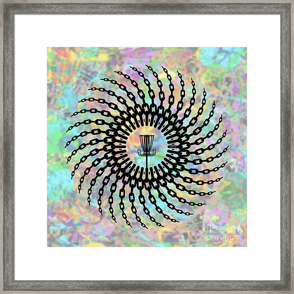 Disc Golf Basket Chains Framed Print