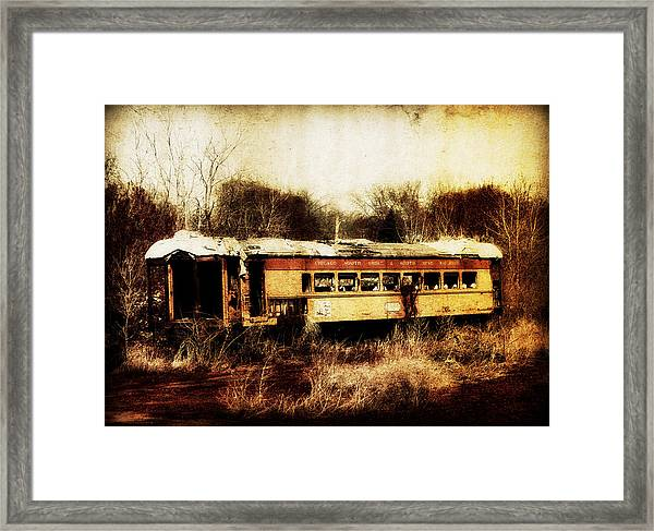 Discarded Train Framed Print