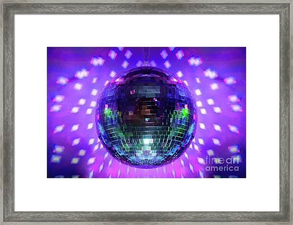 Disco Ball Purple Framed Print