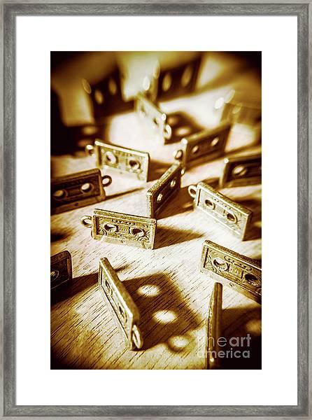 Disco Dancing Cassettes Framed Print