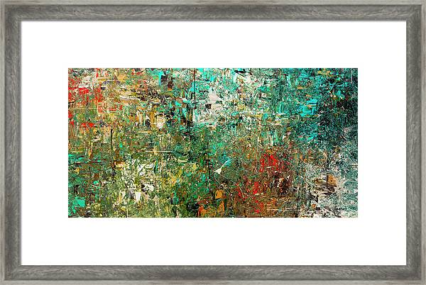 Discovery - Abstract Art Framed Print
