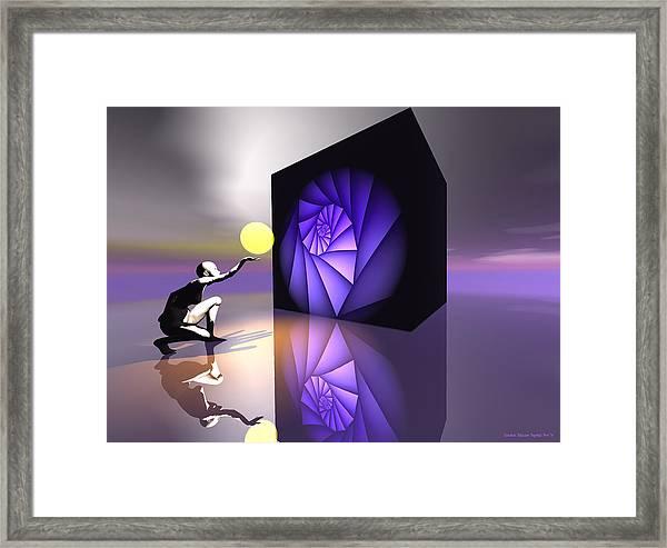 Framed Print featuring the digital art Discovery by Sandra Bauser Digital Art