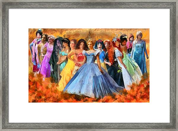 Disney's Princesses Framed Print
