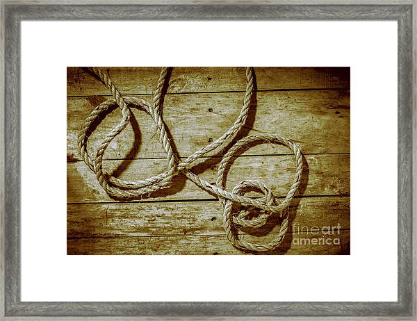 Dispatched Ropes And Voyages Framed Print