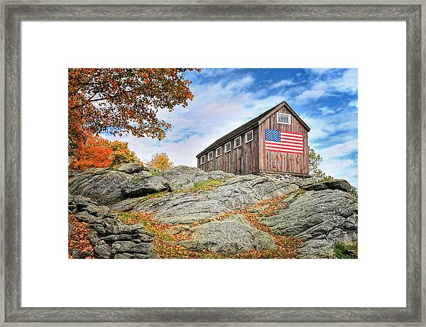 Display Of Colors - Roxbury Barn  Framed Print