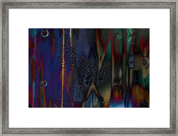 Disrupted Graffiti Framed Print by John Ricker