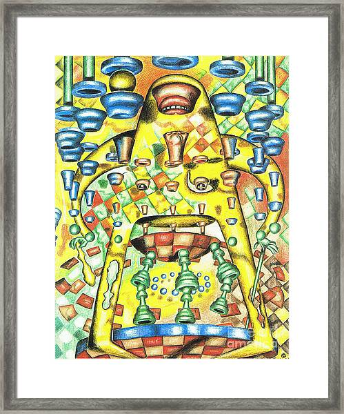 Dissecting The Opponent Framed Print