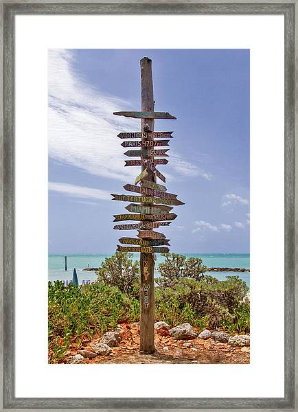 Framed Print featuring the photograph Distance From Key West by Bob Slitzan