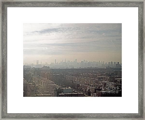 Distant City Framed Print