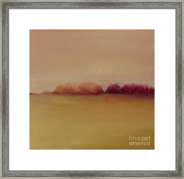 Distant Red Trees Framed Print