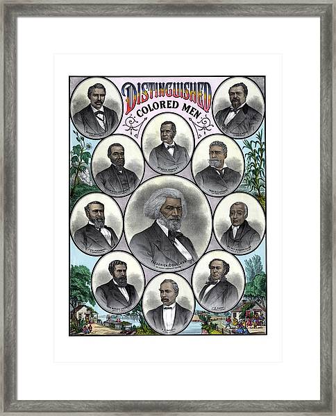 Distinguished Colored Men Framed Print