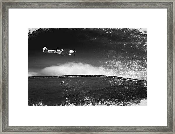 Distressed Spitfire Framed Print