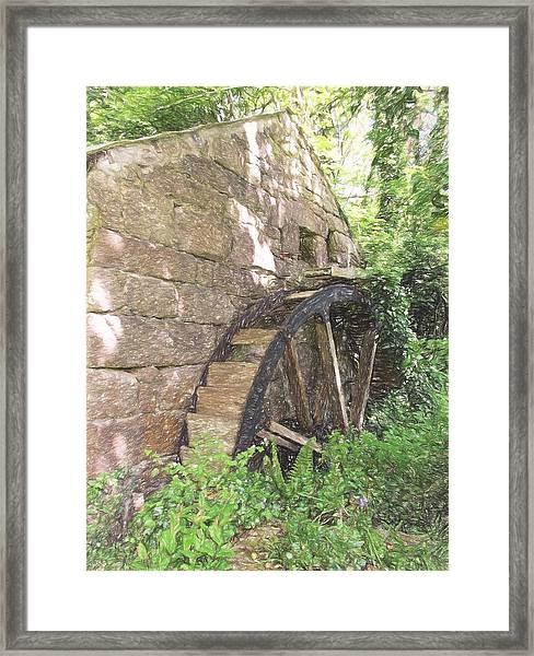Disused Water Wheel Framed Print