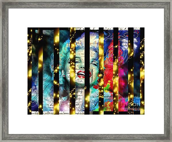 Diva A Star In Stripes Framed Print