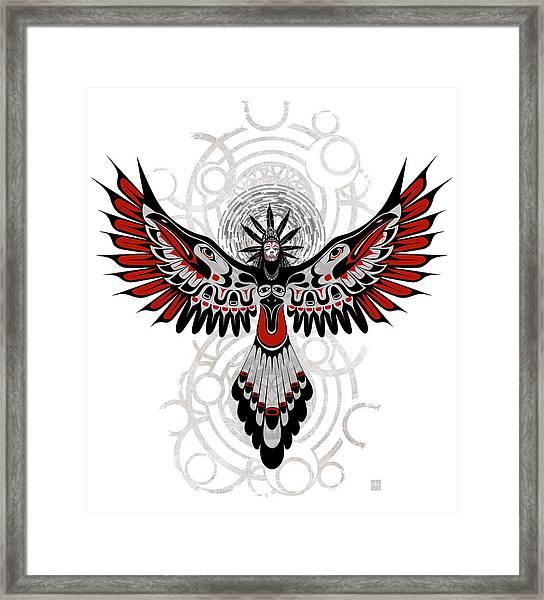 Divine Crow Woman Framed Print
